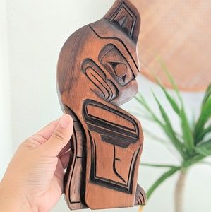 Hand Carved British Columbia Indian Totem